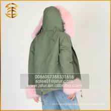 Factory Direct Sale Winter Coats Long Style Fox Lady Fur Parka