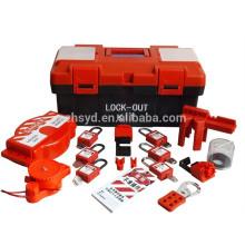 Aprobar CE Resistente impacto, corrosión, calor ABS plástico profesional con llave para dominar y al igual que el procedimiento de etiquetado de bloqueo de seguridad