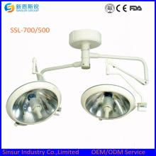 Больничный хирургический потолок Double Head700 / 500 Shadowless Medical Operating Light / Lamp