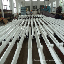 factory direct supply galvanized steel middle hinged and folding street light poles with wholesale price