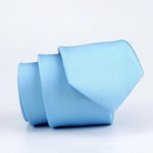 Poliéster tejido delgado corbata azul