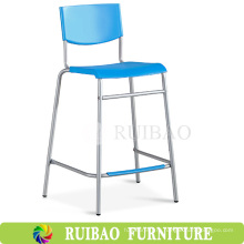 2016 Современная цветная металлическая металлическая рама Высокий задний пластиковый барный стул со спинкой