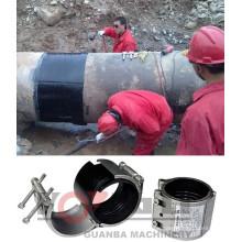 RCD flexible stainless steel repair clamp in pipe fittings