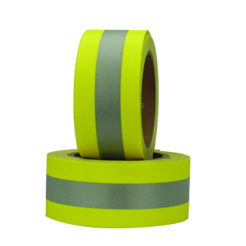 flame retardant tape yellow silver yellow fire resistant reflective fabric trim for firefighter