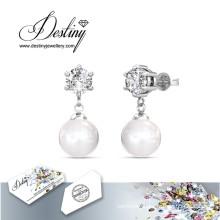 Destiny Jewellery Crystals From Swarovski Stud Pearl Earrings