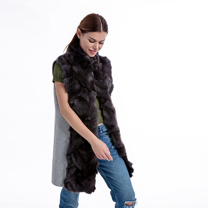 New Fur Cashmere Vest