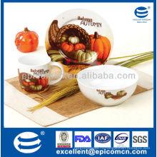 3 шт круглый фарфор рождественские подарки посуда для детей