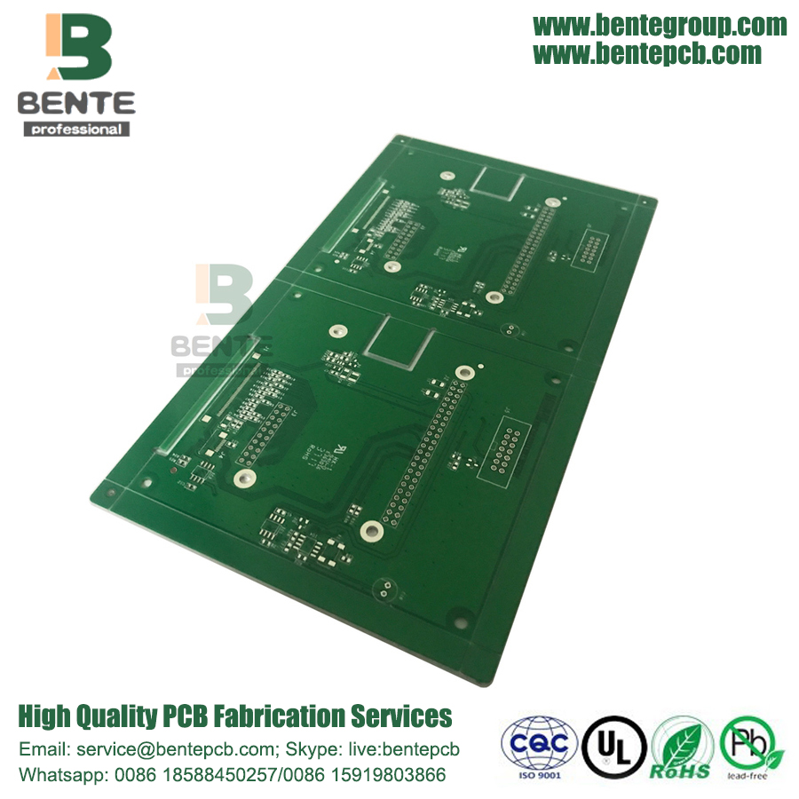 4-Lagen 1oz Multilayer PCB Immersion Silber BentePCB