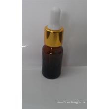 Frasco de vidrio ámbar de alta calidad con cuentagotas de vidrio para laboratorio y aceite esencial