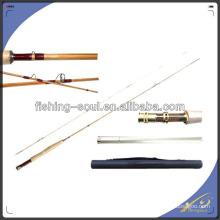 FYR001 2 Seção De Bambu Voar Vara De Pesca