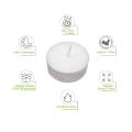 white mini unscented tealight candles 10pcs no smoke factory wholesale