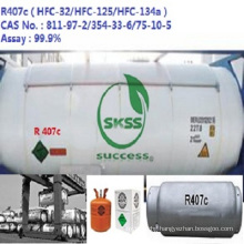 OEM available refrigerant gas hfc-R407C Unrefillable Cylinder Excellent-class Port in Singapore market