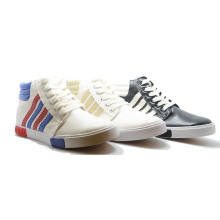 Slanted Bar Classical Casual Student Men High Top Rubber Shoes