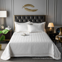 Hotel Product White Bedspread Set Full Size Lightweight for All Season