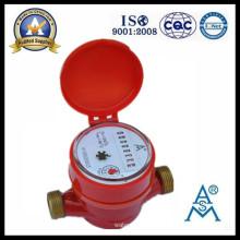 Medidor de chorro único tipo seco agua caliente