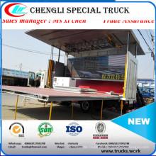 4meters longitud DFAC Dongfeng 4 X 2 carro etapa carro