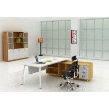 Table de bureau de meuble de bureau en bois de mode avec jambe en métal (HF-MB010)