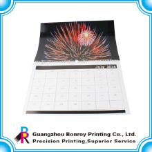 Новые конструкции CMYK recyclable для популярных оторвите бумажный настенный календарь