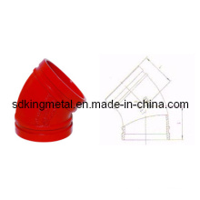 FM/UL Listed Ductile Iron 11.25 Degree Grooved Elbow