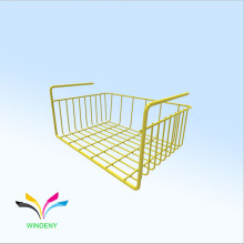 OEM de diseño de polvo de metal revestido de alambre de metal de almacenamiento de la cesta