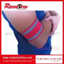 Регулируемые безопасности спорта Светоотражающий повязку с крюк и петля