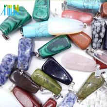 Charm polished semi precious stone pendant small amount wholesale