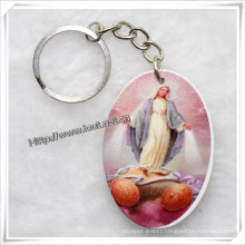 Promotional Cheap Wood Key Chain with Pattern / All Kinds of Patterns (IO-CK002)