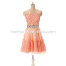 2017 novo lindo vestido de renda rosa coreano vestido de noite para a senhora