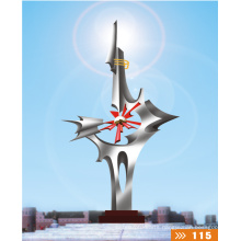 Modern Large Arts Abstract Stainless steel Sculpture for garden decoration