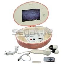 Nueva pantalla LCD portátil analizador de cabello y piel cuadrada