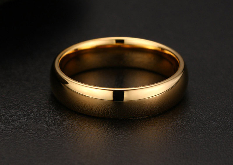 tungsten carbide gold ring