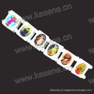 Bracelete de Concha, Concha Bracelete 0n Elástico com São Fotos