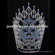 Оптовая продажа горячего сбывания 2015 большой Halloween тыквы призрак паук конкурса пользовательских горный хрусталь тиара корону