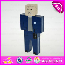 2015 New Design Hand Puppet Toy for Kids, Cheap Wooden Toy Puppet Wholesale, Hot Sale Wooden Doll for Gift or Decoration W06D060