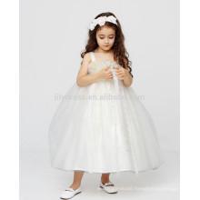 White A-Line Zipper Back Customized Flower Girl Dress Vestidos FGZ42 Long Dresses For Kids