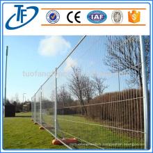 Usine de vente directe de haute qualité pvc enduit clôture temporaire, couleur en option