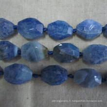 Nice Blue Agate, Blue Gemstone, Semi-Precious Stone