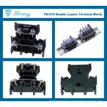TD-015 Hochwertiger schwarzer Oberflächenmontage-Anschlussdraht-Steckverbinder