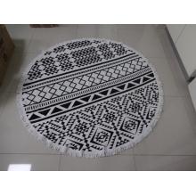 Hot Sale Microfiber or 100% Cotton Custom Reactive Print Round Beach Towel