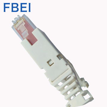 RJ45 Cat6A Toolless-kontakt 8P8C Toolless-kontaktkontakt för hane