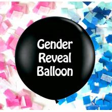 пол раскрыть поп-гигантские конфетти, воздушный шар