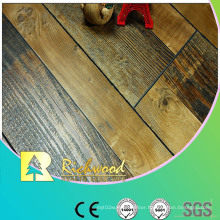 Commercial 12.3mm HDF AC4 Hand Scraped V-Grooved Laminated Flooring