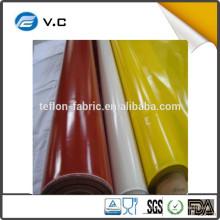 Taixing fez fábrica fornecedor 1,0 milímetros de borracha de silicone revestido pano de fibra de vidro para revestimento de isolamento
