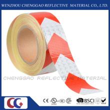 Setas brancas e vermelhas segurança fita reflexiva com cristal Lattice (C3500-AW)