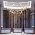 Lustre d'hôtel en verre blanc de nouvelle conception personnalisée
