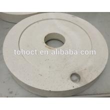 60%alumina Al2O3 mullite ceramic store mill ceramic round plate