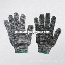 7g de malha de malha multi cor de algodão luva de trabalho-2404