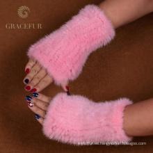 Precio razonable ashion media piel guantes