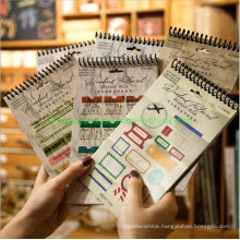 Spiral Printed Sticker Book for Decorating