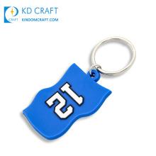 New design custom soft pvc rubber football team club brand logo sport t shirt shaped jersey keychain